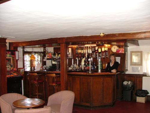 The lounge or bar area at Roebuck Inn