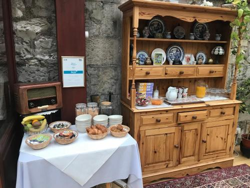 Breakfast options available to guests at Clarke Cottage Guest House