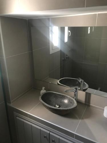 Salle de bains dans l'établissement Apostolis Windmill