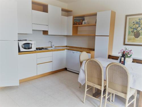 Kuchyň nebo kuchyňský kout v ubytování Residence Bolognese