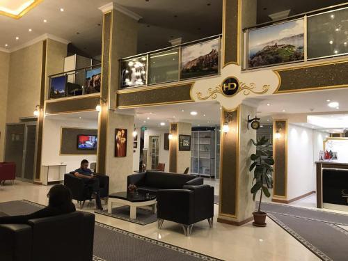 The lobby or reception area at Hotel Dosco