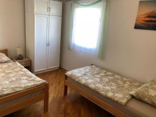Postel nebo postele na pokoji v ubytování Apartman MiMi