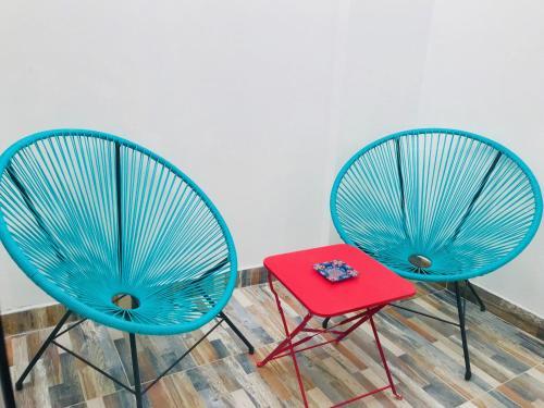 A seating area at Apartamentos La Palma