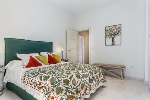 A bed or beds in a room at Apartamento Living By Cathedral
