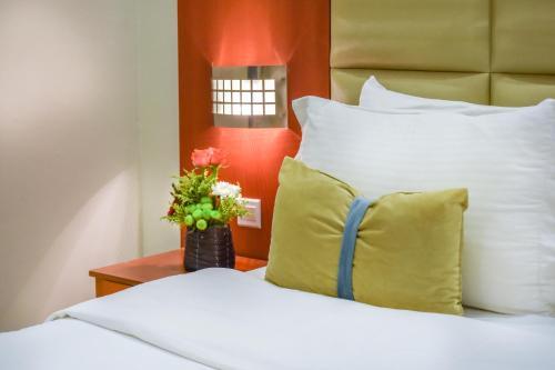 Cama ou camas em um quarto em Nawara Dala