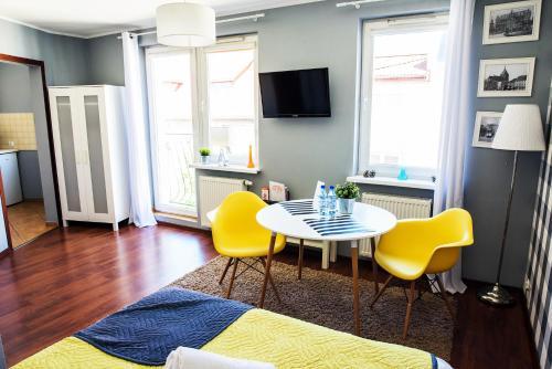 Telewizja i/lub zestaw kina domowego w obiekcie Apartamenty Centrum