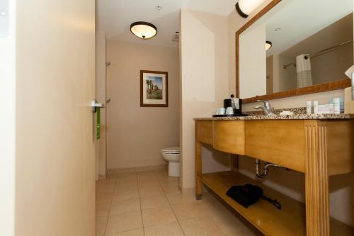 A bathroom at Hampton Inn & Suites Riverton