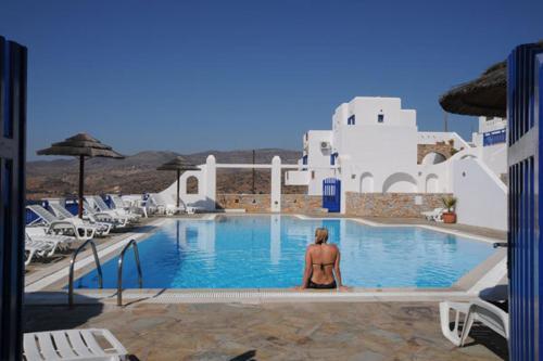 The swimming pool at or near Rita's Rooms