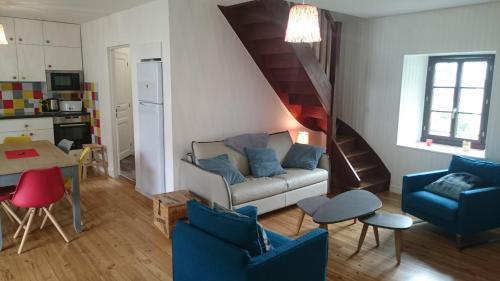 A seating area at Maison de village/Appartement de charme avec extérieur