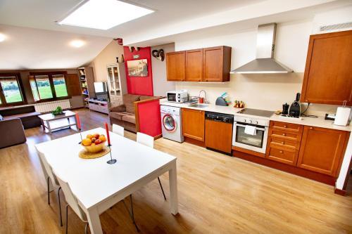 Una cocina o zona de cocina en Apartamentos Turísticos Mallos de Huesca