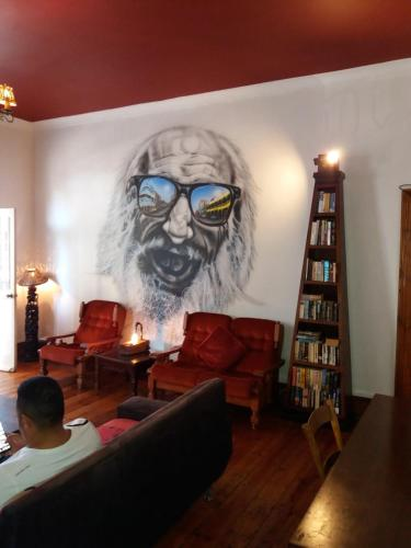 A seating area at Urban Hive Backpackers