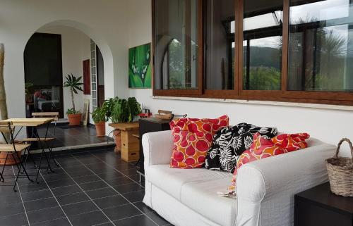 A seating area at Casa dei Capperi