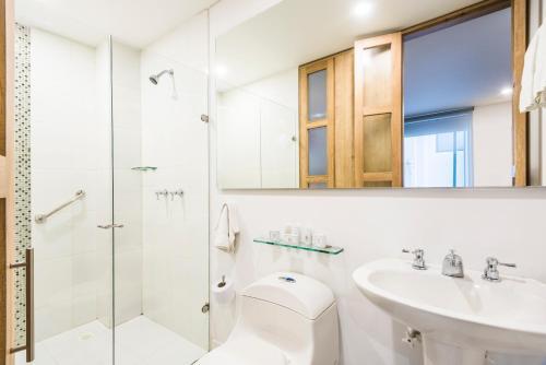 A bathroom at Hotel Camino de la Sal