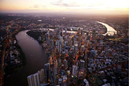 A bird's-eye view of Pullman Brisbane Airport