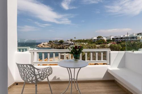 A balcony or terrace at Poseidon Hotel Suites