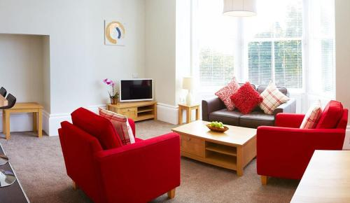 A seating area at Red Lea Apartments