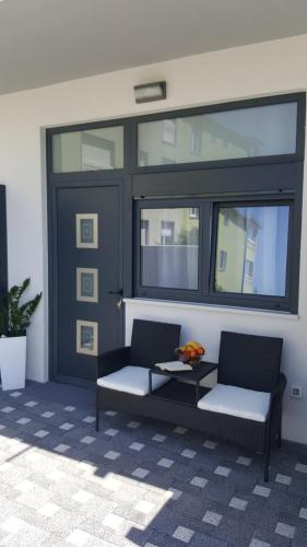 A seating area at Grey house
