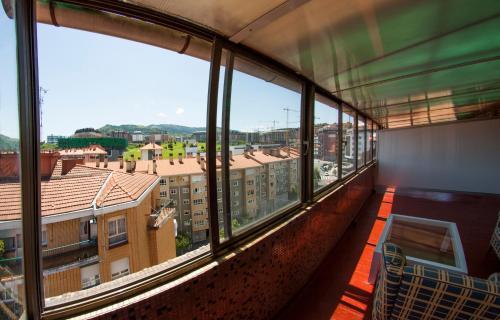 A balcony or terrace at Hotel Bilbi