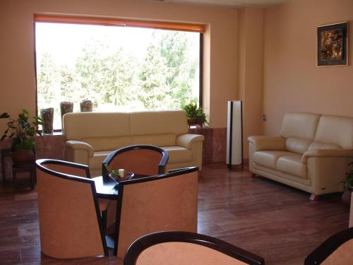A seating area at Hotel Sant Quirze De Besora