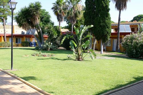 A garden outside Hotel Dunas Puerto