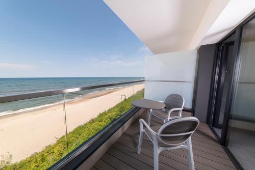 Balkon lub taras w obiekcie Baltivia Sea Resort