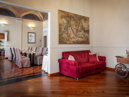 A seating area at Hotel Nuovo Nord
