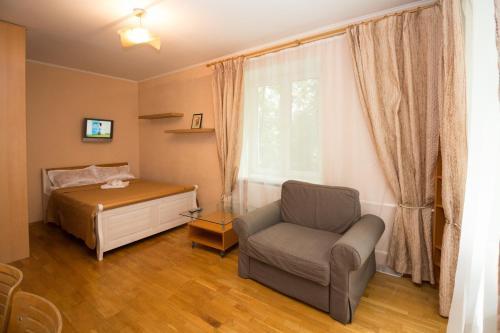 Гостиная зона в Апартаменты на Филевском парке