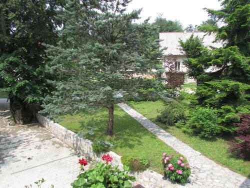 A garden outside Guest House Nenad
