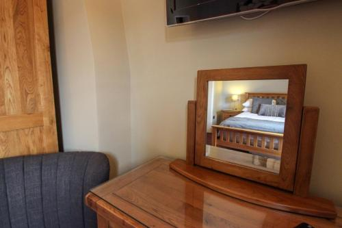 A television and/or entertainment center at The Badger Inn