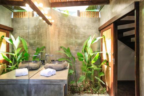 A bathroom at Lua Villas
