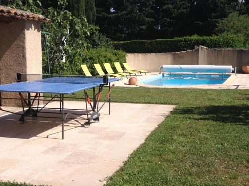 The swimming pool at or near Le Moulin de Milan