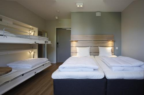 A bunk bed or bunk beds in a room at Kviberg Hostel and Cottages