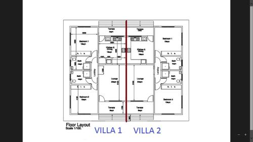 The floor plan of Awesome Charlie D Villas