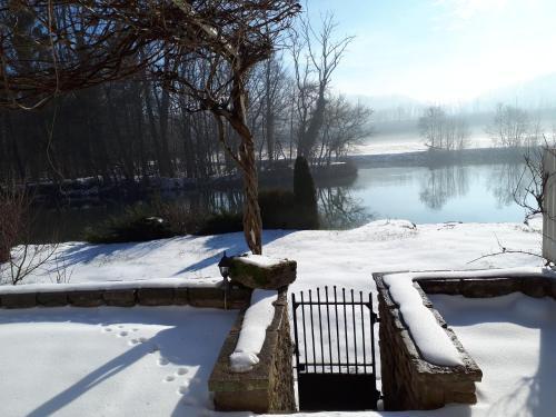 L'établissement La Saônoise en hiver