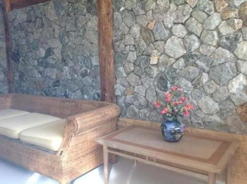Ein Sitzbereich in der Unterkunft Phang-nga cottage
