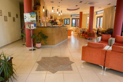 The lobby or reception area at Aeolian Gaea Hotel