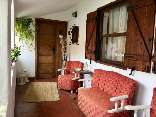 A seating area at La Casita de Las Palmas