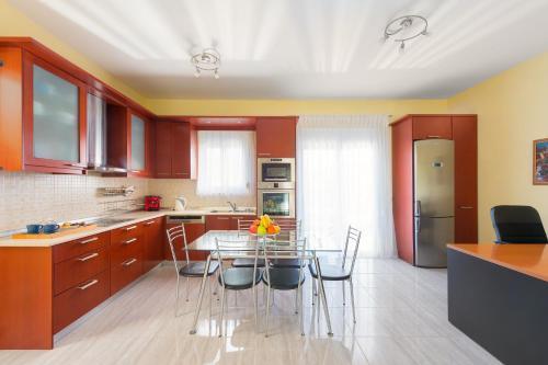 Kuchnia lub aneks kuchenny w obiekcie 2 Bedrooms apartment with pool in Filerimos
