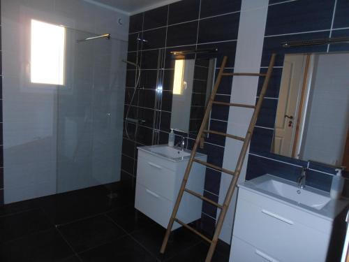 A bathroom at Chambres sous les vignes du Buttois