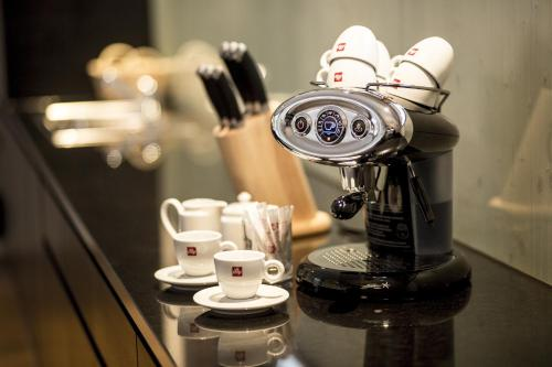 Koffie- en theefaciliteiten bij Gradonna Mountain Resort Chalets & Hotel