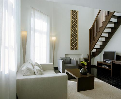 A seating area at Hotel Bergs – Small Luxury Hotels of the World