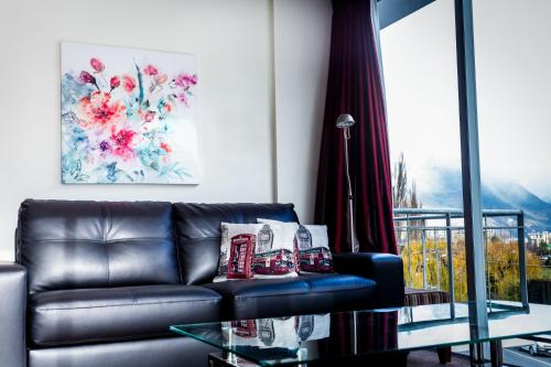 A seating area at The Whistler Holiday Apartments