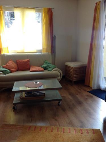 A seating area at Bergheim Matta