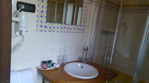 Salle de bains dans l'établissement Posada Calera
