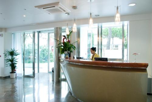 The lobby or reception area at Club House Hotel