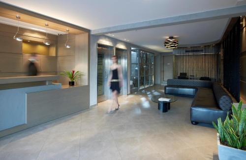 The lobby or reception area at Anatolia Hotel Komotini