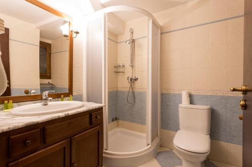 A bathroom at Balcon del Pirineo Rural Ordesa