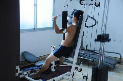 The fitness center and/or fitness facilities at Saigon Quy Nhon Hotel