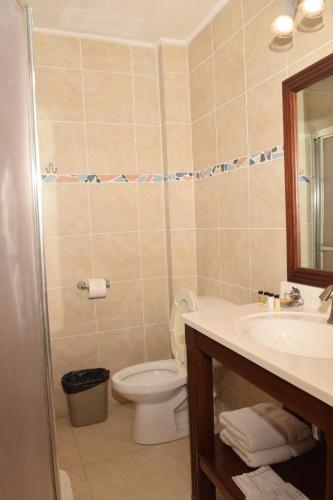 A bathroom at The Opus
