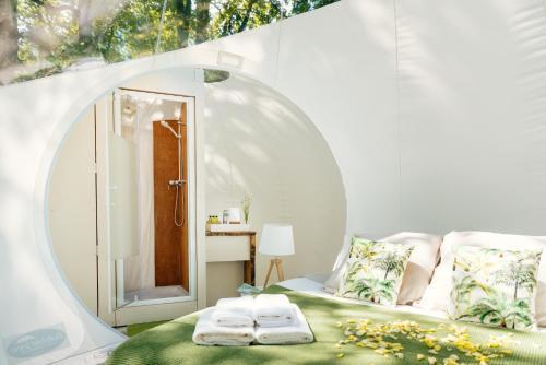Un ou plusieurs lits dans un hébergement de l'établissement Somn'en bulle